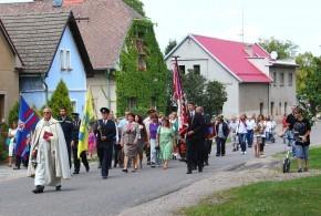Oslava k příležitosti udělení znaku a vlajky obci 24.8.2013