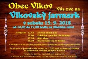 Vlkovský jarmark 15.9.2018