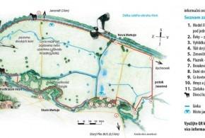 Mapa ptačího parku